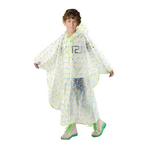 Kinderen regenjas, kinder regenponcho, milieuvriendelijke herbruikbare en waterdichte regenjas voor kleine meisjes.