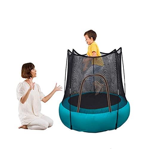 Trampolín Inflable para Niños, 46' Interior Exterior Junior Trampolín con Red De Seguridad del Recinto, a Prueba De Agua Plegable del Trampolín, Fácil De Ensamblar, Adecuado para Niños