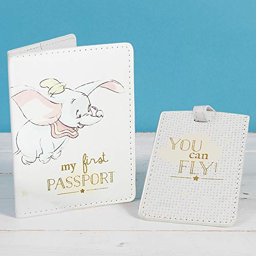 wdd Disney Dumbo Magical Beginnings Baby Passport Cover and Luggage Tag Boxed New DI282, 200 g
