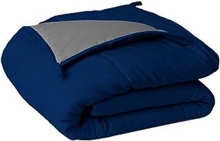 Sleepyhead Microfiber Reversible Comforter 220 GSM - Single Size, Royal Blue & Ash Grey