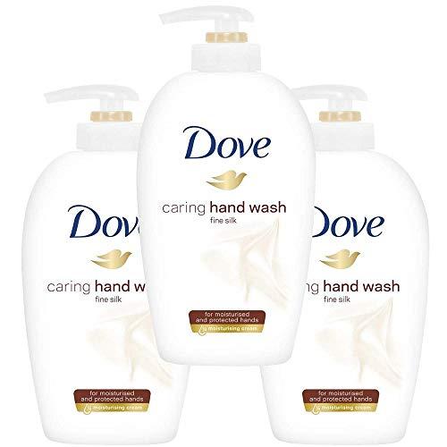 Dove Hand-Waschlotion Feine Seide, 3er Pack (3 x 250 ml)