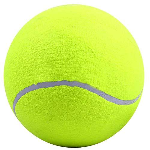 Limeow Aufblasbares Tennis Tennisball für Tiere Hunde Naturkautschuk Hartgummi Aufblasbares Tennis Spielzeug Bounce Kauspielzeug für Hunde 24 cm für Interaktives Spielzeug zum Spielen und Training
