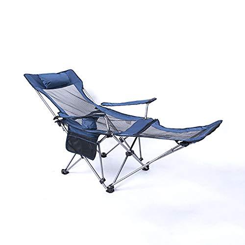 Haol Tumbona Ajustable de Gravedad Cero para terraza de Pesca en la Playa, Tumbona Plegable con portavasos,Azul