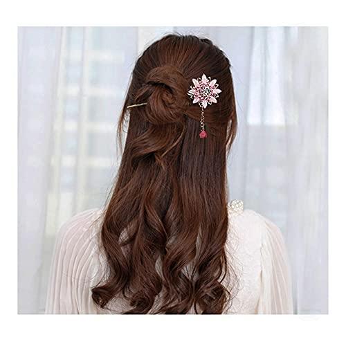 CNCDNALK Haarspange Haarnadel, Kopfbedeckung, Scheibe, Haarschmuck, Haarstift 3 zufällig (Color : 3 Random)