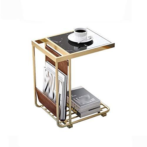 N/Z Home Equipment Beistelltisch Square Marmor Telefontische auf dem Sofa Seite Schlafzimmer Nachttisch Regal Balkon Kaffee Snacks Freizeit Tisch