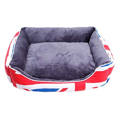 Sile huisdier bed, binnen wasbaar huisdier zacht kussen vochtbestendig Oxford doek huisdier bank comfortabele ademende SL-021, S, National flag
