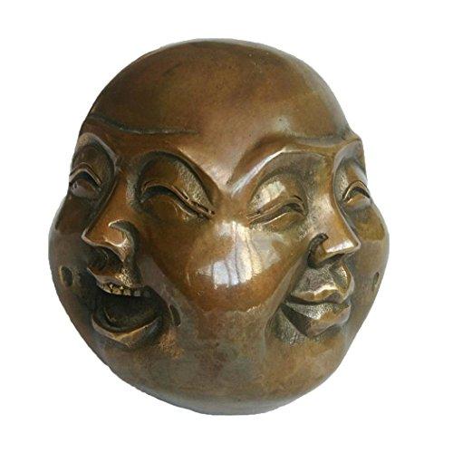 Brass Four Faces Buddha Statue(Pleasure, Anger, Sorrow, Joy) Fengshui Decoration ZD139