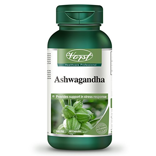 Ashwagandha 1000mg Per Serving (500mg Per Capsule) 60 Capsules Anti Stress Adrenal Fatigue Lack of Energy Difficulty Concentrating Ayurvedic Withania Somnifera Root Powder Extract Withanolides 1.5% Supplement Non-GMO