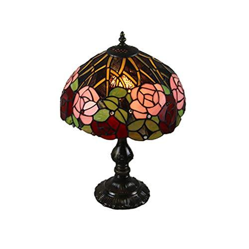 Stijlvolle Tiffany tafellamp Desk Lamp bedlampje Stained Glass Rose oogschaduw voor koffietafel woonkamer slaapkamer dresser Libreria
