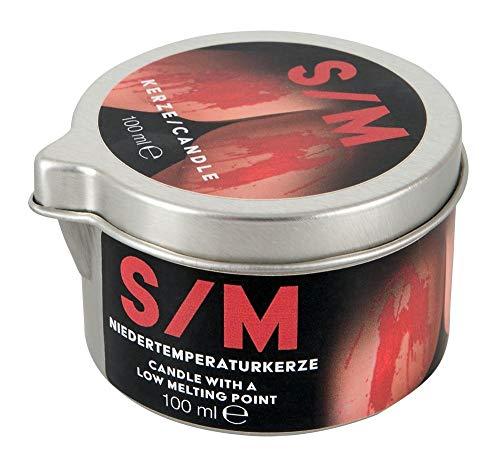 Orion S/M Kerze rot Tiegel - Niedertemperaturkerze für sie und ihn, erotische Wachsspiele, für Massagen und S&M-Spiele, 101 g