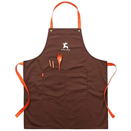 Schürze Küchenschürze Mode Coffeeshop Männer Und Frauen Schürze Niedliche Taille Erwachsene Arbeitskleidung Hängen Hals Schürze-Coffee_68cm*55cm
