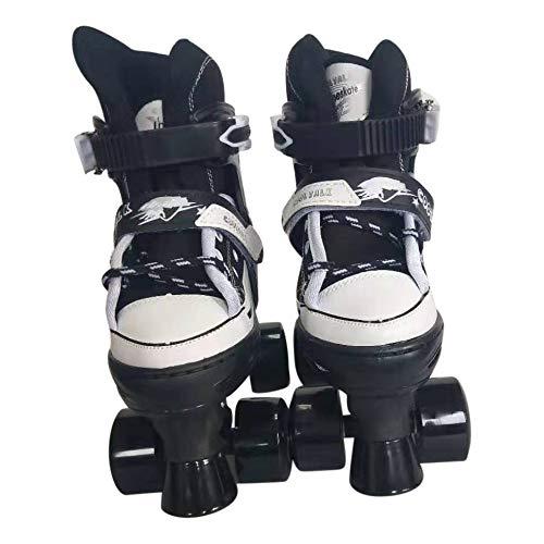Tante Tina Rollschuhe Rollerskates für Kinder - Leuchtende Frontrollen - Rot - S (30-33)