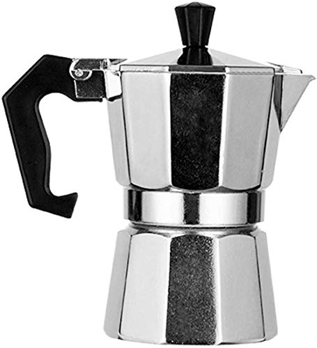 JWCN Cafetera Espresso Cafetera Cafetera Cafetera Italiana Cafetera Percolador Moka Pot Hecho de Aluminio Apto para Estufa Cerámica 450ML-50ML Uptodate
