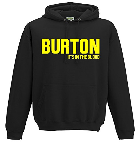 Burton Albion It's in the Blood Brewers Football Gift - Hoodie top jumper FC Present JHD37 (Adult XXL)