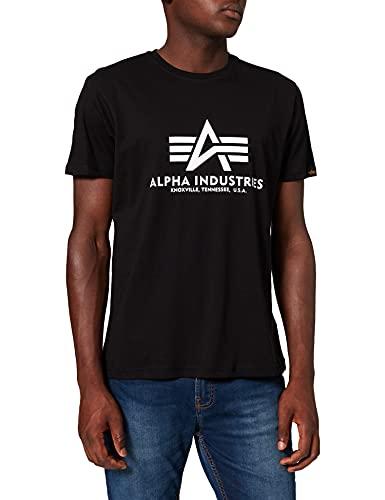 ALPHA INDUSTRIES Herren T-Shirt schwarz (Black) L