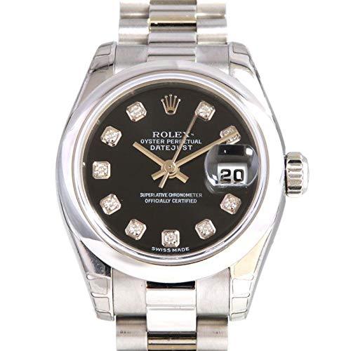 ロレックス ROLEX デイトジャスト 179166G ブラック文字盤 腕時計 レディース (W153375) [並行輸入品]