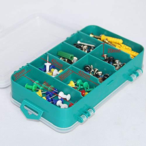 XWJRPA Aufbewahrungskiste,13 Grids Tool Box Doppelseitige Toolbox Organizer Aufbewahrungsbox Multifunktions-Werkzeugkoffer für kleine Komponenten, A.