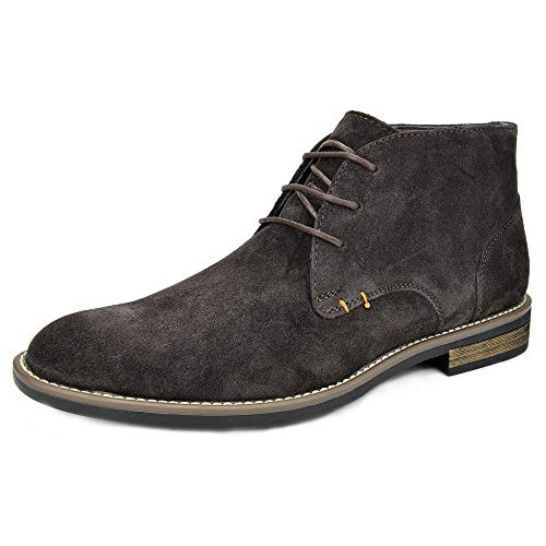 Bruno Marc Men's URBAN-01 Dark Brown Suede Leather Lace Up Oxfords Desert Boots Size 9.5 M US