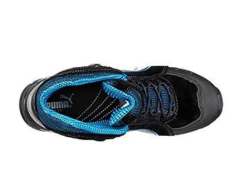Puma 632250-256-44 Chaussures de sécurité Rio Mid S3 SRC Taille 44, Noir/Gris/Bleu/Blanc