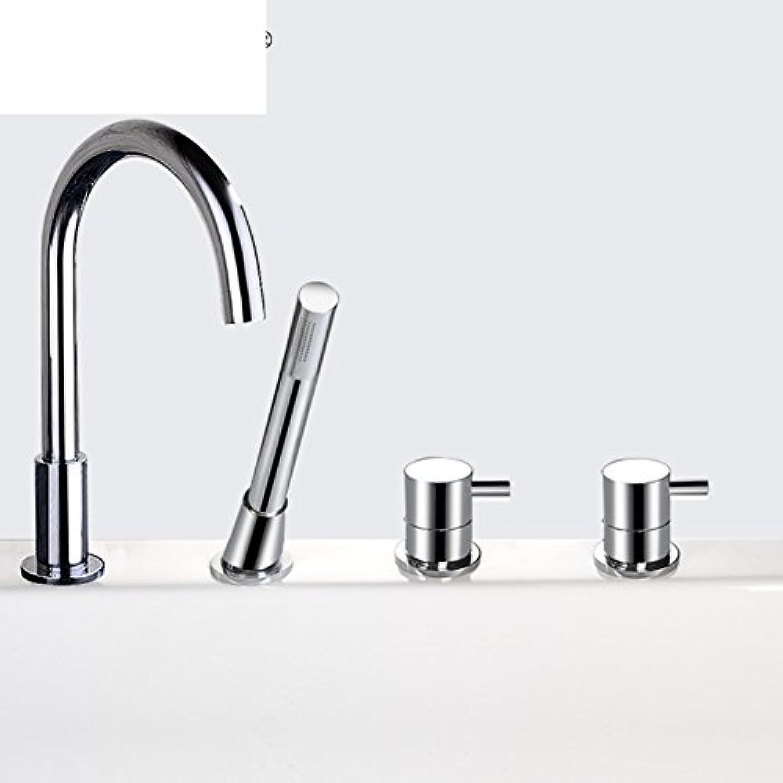 Kupfer-Badewanne Wasserhahn Kit Mischventil kalt- und tippt set der Rand der Badewanne Dusche