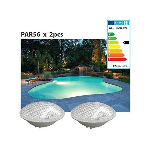 Lot de 2 Ampoules de piscine PAR56 18w Blanc froid à LED