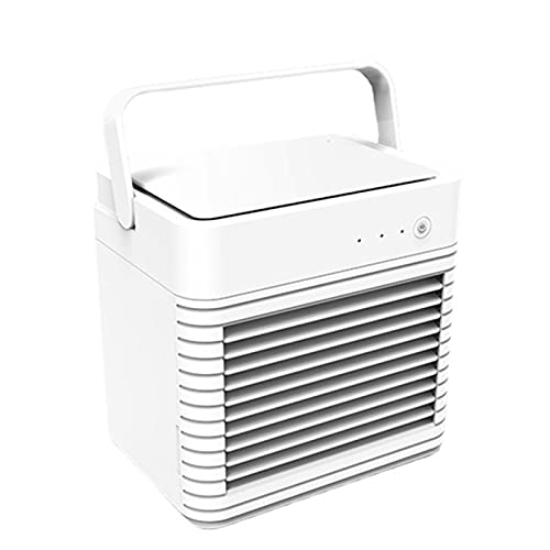 Dsleep Portable Air Cooler, Small 3 in 1 Air Conditioning Cooler and Humidifier, Mini Evaporative Cooler Clean with 3 Speeds 7 Colours, Mobile Air Cooler for Bedroom in Home Office