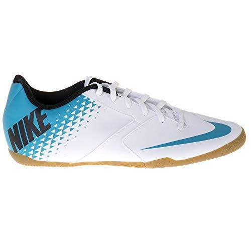 Nike Bomba IC, Scarpe da Calcio Uomo, Multicolore (White/Blue Lagoon/Black 140), 38.5 EU