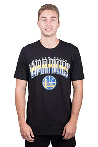 Ultra Game NBA Golden State Warriors Mens Arched Plexi Short Sleeve Tee Shirt, Black, X-Large
