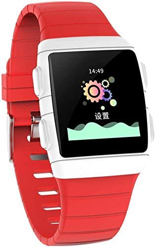 JIAJBG Reloj inteligente, 1.3 pulgadas IPS Super deslumbrante pantalla grande IP68 impermeable y súper batería de vida, pulsera inteligente con siete modos deportivos-negro de lujo / rojo