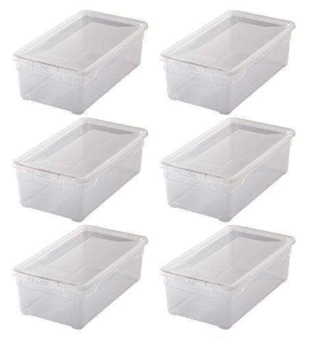 """6x Aufbewahrungsboxen """"Clear Box"""" mit 5 Litern, 33,0 x 19,0 x 11,0 cm - transparent - stapelbar - Kunststoff/Plastik"""