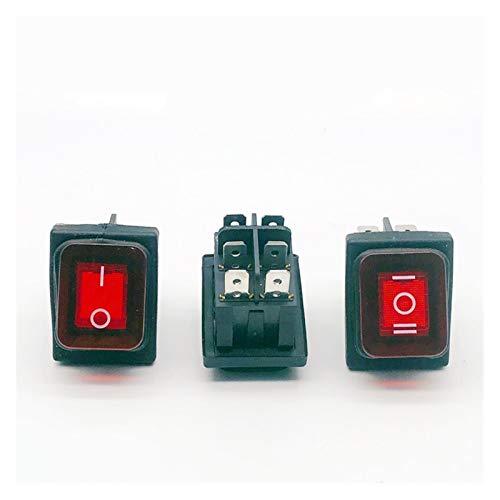 aolongwl Interruptor basculante Interruptor de balancín de Button 20 mm en Off SPST 3 Pin AUTOMO AUTOMO AUTOMO COMPECTOS DE Motor con LOS Pole DE LUZ LED 12V LED
