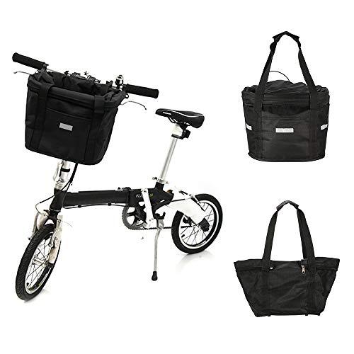 GHDAG Bicicleta delantera cesta Ciclismo bolsa extraíble impermeable bicicleta manillar lona cesta mascota marco bolsa bicicleta Accesorios