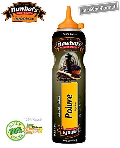 950ml Nawhals Pfeffersauce/ Poivre Sauce, Original Marke Nawhal's / Belgische Saucen