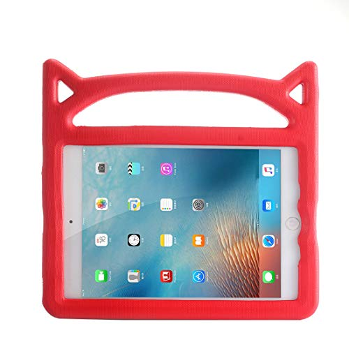 Jamicy Replacement for iPad Mini 5/4/3/2/1 Shockproof Freestanding Lightweight Eva Foam Case Kids Friendly Case with Handle and Foldable Stand for iPad Mini 5/4/3/2/1 7.9 Inch - Red -