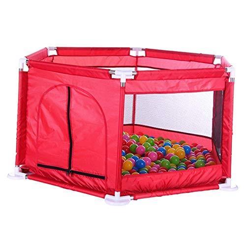 ZTMN Baby Playpen Kids Safety Playpen Kids Activity Center Room (Couleur: Rouge)