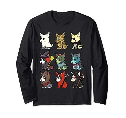 Boston Terrier Gruselige Kostüme Halloween Geschenk Langarmshirt
