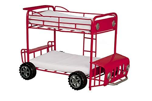 Melody Jane Puppenhaus Doppeldecker Bus Etagenbett Miniatur-Schlafzimmer Möbel Etagenbetten