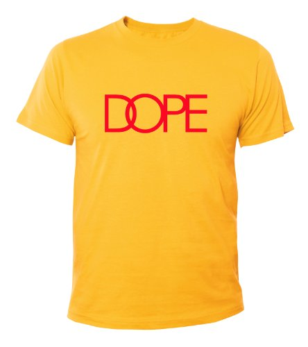 Mister Merchandise Homme Cool Chemise T-Shirt DOPE , Size: S, Color: Jaune