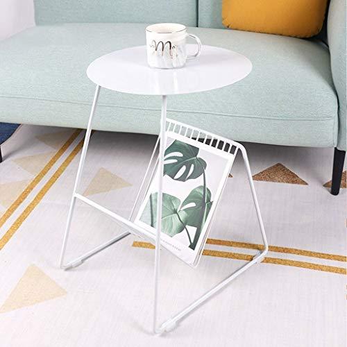 YSXCFZC Bügeleisen Schlafsofa Beistelltisch Kaffee Snack Tisch mit Aufbewahrung Zeitungen Storage Magazine kleinen Raum Beistelltisch (Color : White, Size : 42 * 36 * 55cm)