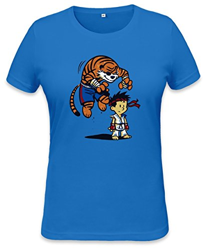 Fighter Tiger Attack Womens T-shirt Small
