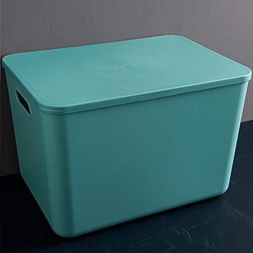 Plástico Apilable Caja De Almacenaje Con Handle,Ahorro De Espacio De Alta Capacidad Caja De Almacenamiento,Juguete De Merienda De Sundries Bolsa De Almacenamiento Para La Cocina De-Verde 25.5x17.8x15.