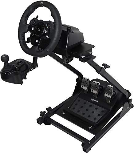 Soporte de Volante de Carrera para Logitech G25 G27 G29 y G920 Soporte Plegable de Volante no Incluye Volante Pedales y Palanca de Cambio (G920)
