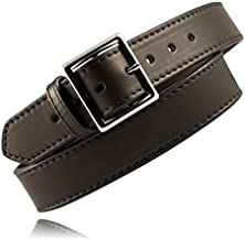 "product image for Boston Leather 6505L-1-42 Black Plain 1.75"" Wide Lined Garrison Belt - 42"""
