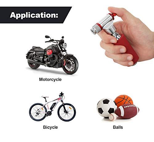 Anstore Fahrradpumpe CO2 – Kartuschenpumpe, Fahrrad Minipumpe Für Presta Und Schrader Ventile – Einfaches Und Schnelles Aufpumpen Von Fahrradreifen – Keine Kartusche Im Lieferumfang - 6