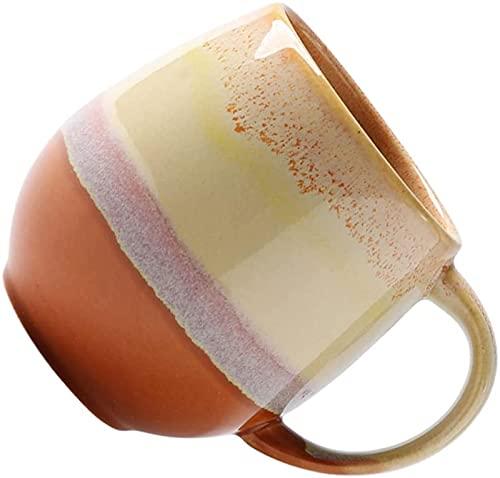 GDEVNSL Bienvenido a Personalizar Taza de Desayuno Estilo Americano Americano Bebidas de café Taza de té Tazón de Postre de Yogur con asa para niños Adultos Amarillo