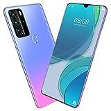 SHIJIANX Teléfono Móvil Smartphone Desbloqueado,Gota De Agua De Pantalla Completa De 7,1 Pulgadas,4 + 64 GB / 4 + 128 GB,Batería De 5600 MAh,Cámara De 32 MP + 48 MP,3 Colores
