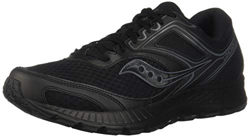 Saucony Men's VERSAFOAM Cohesion 12 Road Running Shoe, Black | Black, 10.5 M US