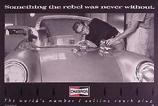 James Dean Champion Spark Plug Original Rebel Was Never Without Car Poster