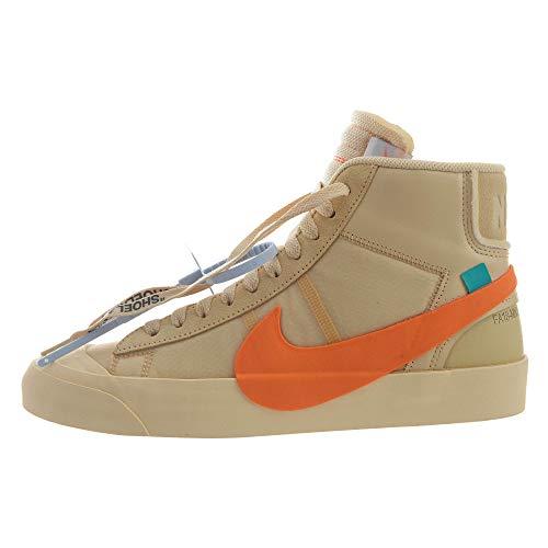 Nike Blazer Mid (Off-White Hallow's Eve, Beige (Tela/arancione.), 43 EU