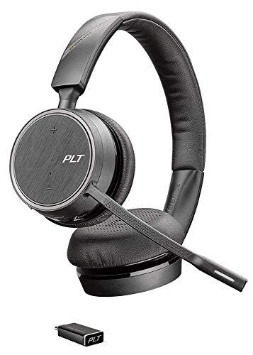 Plantronics Voyager 4220 UC - Cuffie stereo Bluetooth con tecnologia SoundGuard, microfono e pulsanti sull'auricolare, taglia unica, colore: Nero